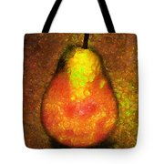 Delicious Pear Abstract Expressionism Tote Bag