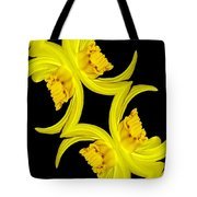 Delightful Daffodil Abstract Tote Bag