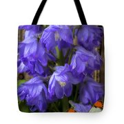 Delphinium And Butterfly Tote Bag