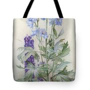 Delphiniums Tote Bag by James Valentine Jelley
