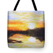 Delta Bayou Sunset Tote Bag