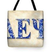 Delta Epsilon Psi - Parchment Tote Bag