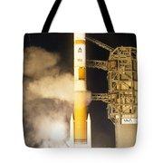 Delta Iv Rocket Taking Off Tote Bag