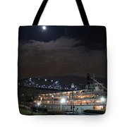 Delta Queen Under A Full Moon Tote Bag by Kathy  White