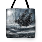 Deluged By The Wave Tote Bag