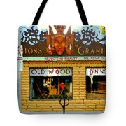 Delusions Of Grandeur Bank St Furniture Art Store On The Glebe Paintings Of Ottawa Scenes C Spandau Tote Bag