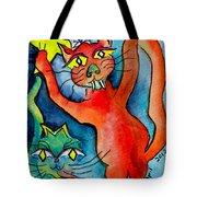 Demon Cats Reach Tote Bag