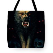 Demon Wolf Tote Bag