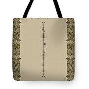 Dempsey Written In Ogham Tote Bag