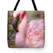 Demure Flamingo - Digital Art Tote Bag