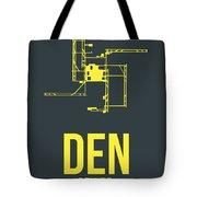 Den Denver Airport Poster 1 Tote Bag by Naxart Studio