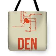 Den Denver Airport Poster 2 Tote Bag by Naxart Studio