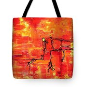 Dendritic Echoes Tote Bag