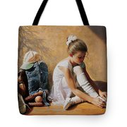 Denim To Lace Tote Bag by Greg Olsen