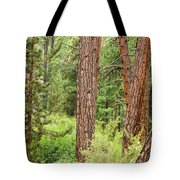 Dense Forest View Tote Bag