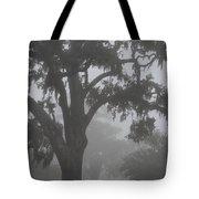 Dense Morning Fog In Oaks Tote Bag