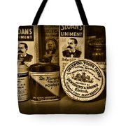 Dentist  -  Tooth Powder And More In Black And White Tote Bag