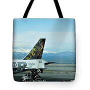 Denver Airport With Rockies In Background Tote Bag