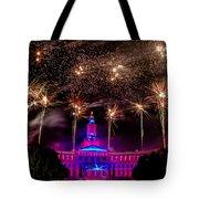 Denver Colorado Independence Eve Fireworks Tote Bag by Teri Virbickis