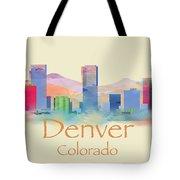 Denver Colorado Skyline II Tote Bag