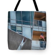 Denver Diagonal Lines Tote Bag