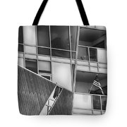 Denver Diagonal Lines Bw Tote Bag