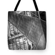 Denver Diagonals Bw Tote Bag