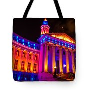 Denver Orange And Blue Pride Tote Bag