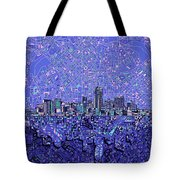 Denver Skyline Abstract 4 Tote Bag