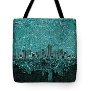 Denver Skyline Abstract 5 Tote Bag
