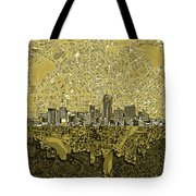 Denver Skyline Abstract 8 Tote Bag