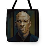 Denzel Washington In The Equalizer Painting Tote Bag