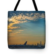 Departing From Ewr  Tote Bag