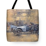 Departure For Christmas Oil On Canvas Tote Bag
