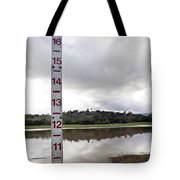 Depth Measuring Stick Lake Lagunita Stanford University Tote Bag