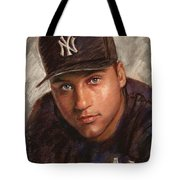 Derek Jeter Tote Bag by Viola El