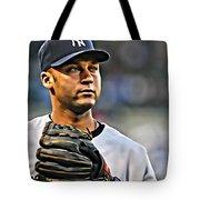 Derek Jeter Portrait Tote Bag
