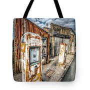 Derelict Gas Station Tote Bag by Adrian Evans