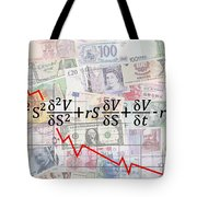 Derivatives Financial Debacle - Black Scholes Equation Tote Bag
