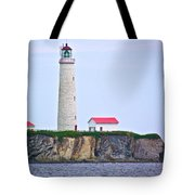 Des-rosiers Lighthouse Is Canada's Tallest In Forillon Np-qc Tote Bag