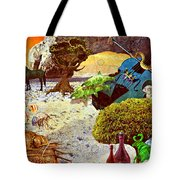 Desert Blues Tote Bag