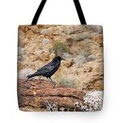Jet Black Desert Dweller Tote Bag
