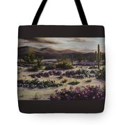 Desert In Bloom At Dusk Tote Bag