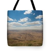 Desert Landscape By The Tannur Dam Tote Bag