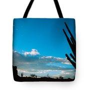 Desert Landscape Silhouette Tote Bag