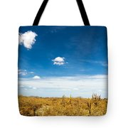 Desert Landscape With Deep Blue Sky Tote Bag