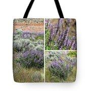 Desert Lupine Collage Tote Bag