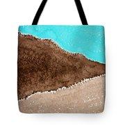 Desert Mountains Original Painting Tote Bag