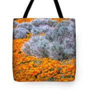 Desert Poppies And Sage Tote Bag