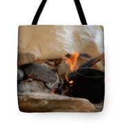 Desert Sinai Fireplace Egypt Tote Bag